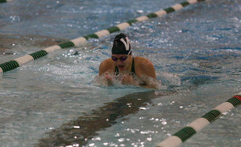 Weedsport student swims in meet